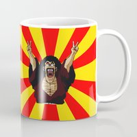 satan Mugs featuring Mr Satan by husavendaczek