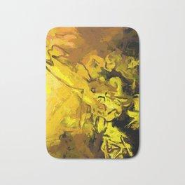 Yellow Lily Golden Light Flower Maelstrom Bath Mat