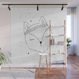 Fox Blossom illustration Wall Mural