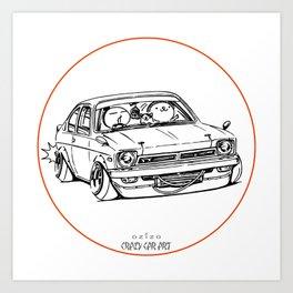 Crazy Car Art 0189 Art Print