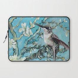Almond Blossom with Hummingbirds III Laptop Sleeve