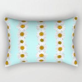Daisy Chains on Bright Mint Rectangular Pillow