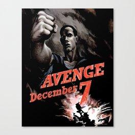 Avenge December 7th Canvas Print