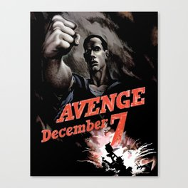 Avenge December 7th Canvas Print