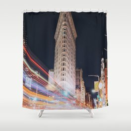 Flat Iron Building Shower Curtain