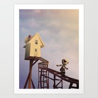 robots Art Prints featuring robots by Alevan
