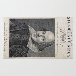 William Shakespeare Portrait Rug