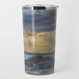 Sunset and God beams - watercolour Travel Mug