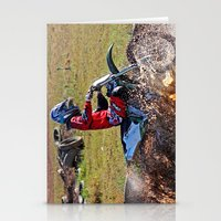 moto Stationery Cards featuring Moto Cross by Lone Wolf Photography