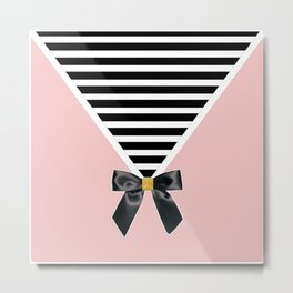 The Envelope: Bow + Stripe Metal Print