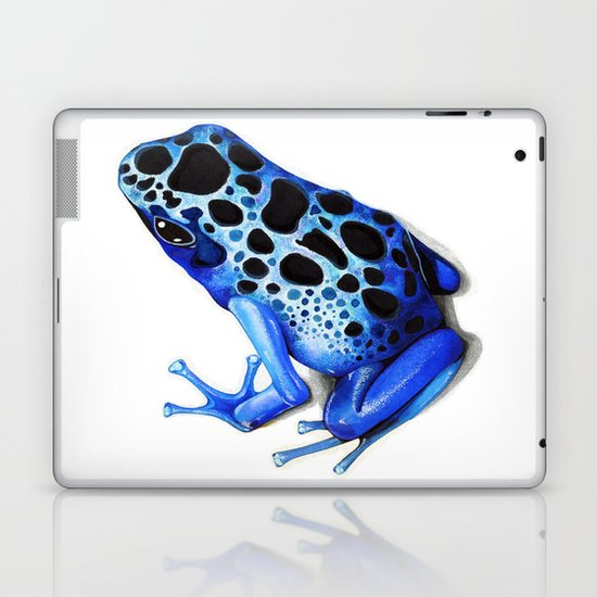 Blue Poison Frog Laptop & iPad Skin