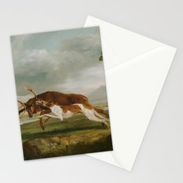 George Stubbs - Hound Coursing a Stag Stationery Cards