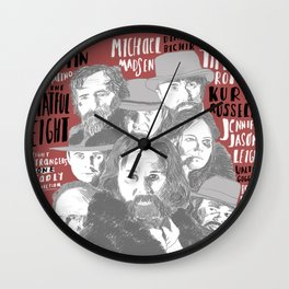 Eight Strangers One Deadly connection Wall Clock
