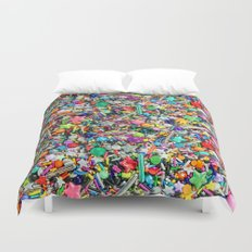 Rainbow Sprinkles - cupcake toppings galore Duvet Cover