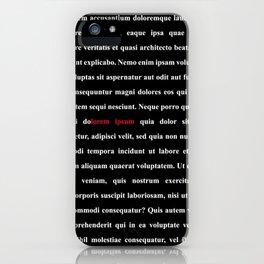 LOREM IPSUM - 1 iPhone Case