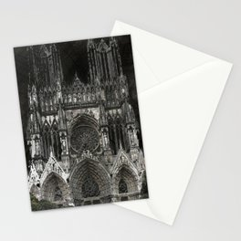Cathedral Black Stationery Cards