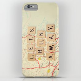 let's run away iPhone Case