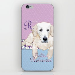 G is for Golden Retriever iPhone Skin