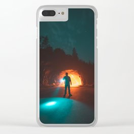 Searching The Tunnels Of Yosemite Clear iPhone Case