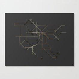 Los Angeles Subway Canvas Print