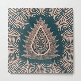 Leaf Lotus Metal Print