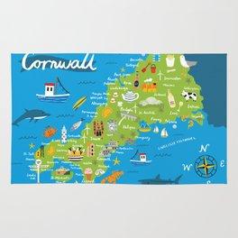 Cornwall Map Rug