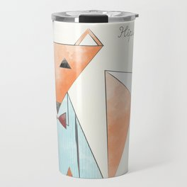 Hipster Fox Travel Mug