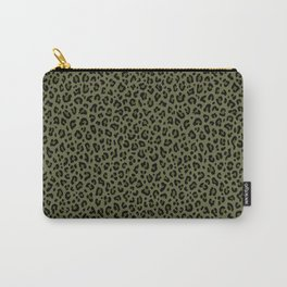 CAMO LEOPARD PRINT – Olive Green | Collection : Punk Rock Animal Prints. Carry-All Pouch