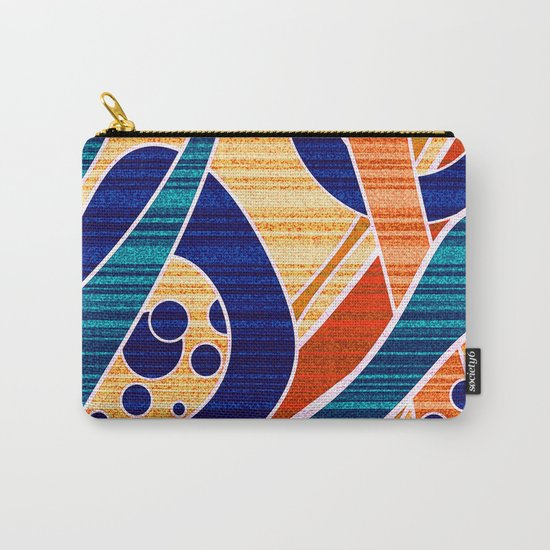 Blue orange abstract pattern .  Carry-All Pouch
