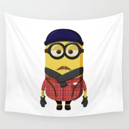 Hipster Minion Wall Tapestry