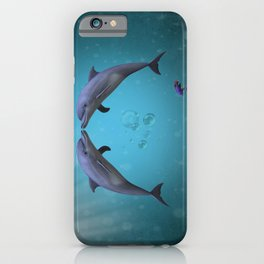 dolphins love iPhone Case
