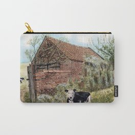 Farm Shed with Cow Carry-All Pouch