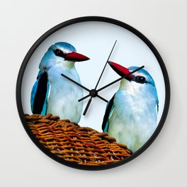 Woodland Kingfisher chit chat Wall Clock