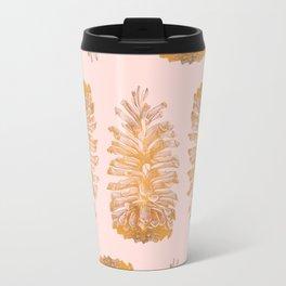 Golden Pine Pattern Travel Mug