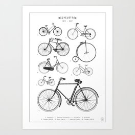 Collections - Bicyclettes Art Print