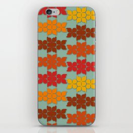 Retro Butterfly Print iPhone Skin