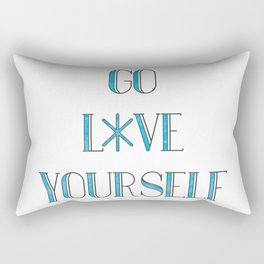 Go Love Yourself Rectangular Pillow