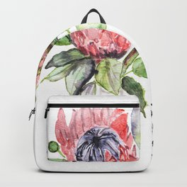ONE YEAR ANNIVERSARY, Gift Warming gift,Protea Art Print Backpack