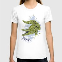 crocodile T-shirts featuring Crocodile by Sam Jones Illustration