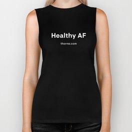 Healthy AF - White Biker Tank