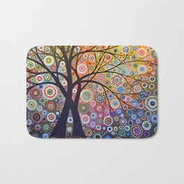 Abstract Art Landscape Original Painting ... Magic Garden Bath Mat