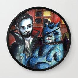 vampire and dog Wall Clock