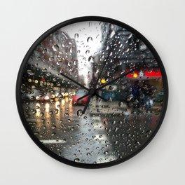 New York Rain Day Wall Clock