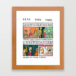 Deep Dark Fears 138 Framed Art Print