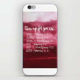chin up (pink) iPhone Skin