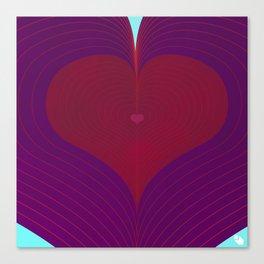 I Heart Lines Canvas Print