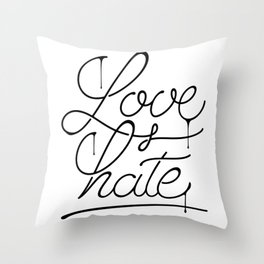 Love & Hate Throw Pillow