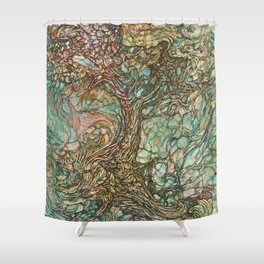 On the Wave of a Wind Shower Curtain
