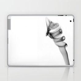 Smoke black on white Laptop & iPad Skin