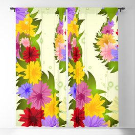 Colorful asters Blackout Curtain